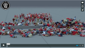 Must See! Amazing 3D Animation Testing Video of Crowd Simulation