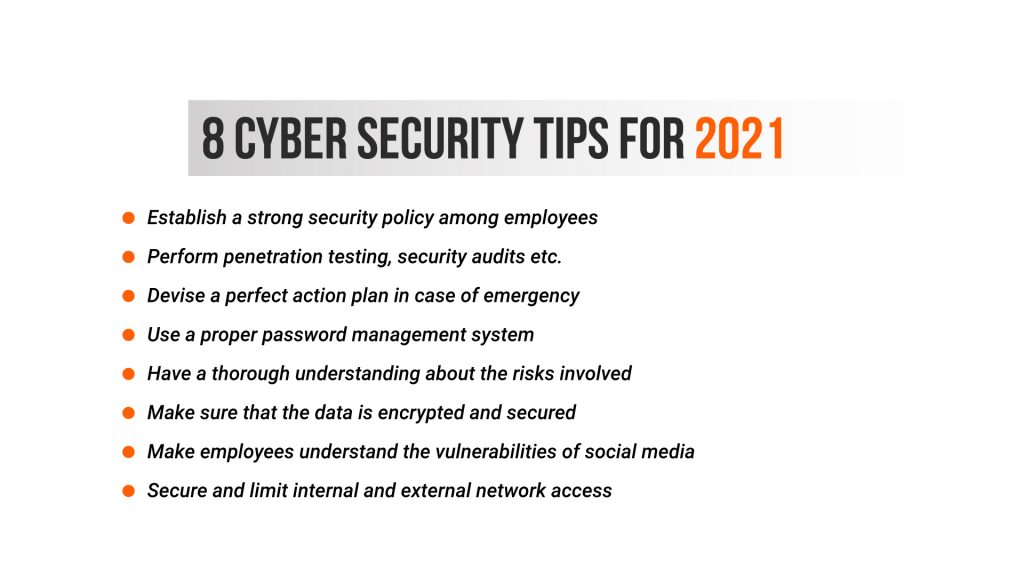 8 Cyber security tips for 2021