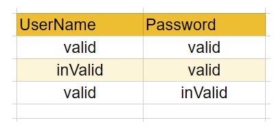 Make excel/csv for Input Test Data