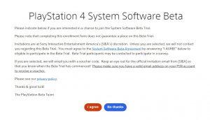 Playstation beta tester registration form