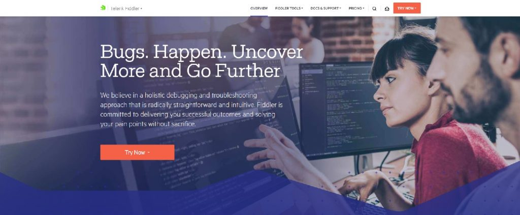 Fiddler tool web page
