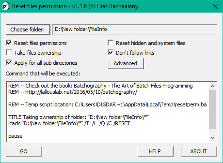 Restrict the permissions for directories and files