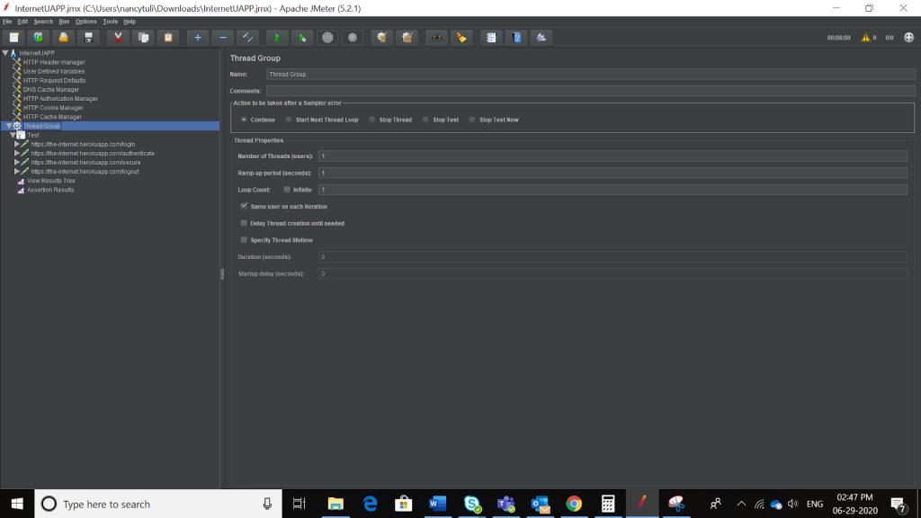 Apache Jmeter tutorial