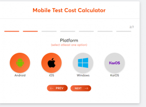 How much does testing cost (test cost calculator) screen 2